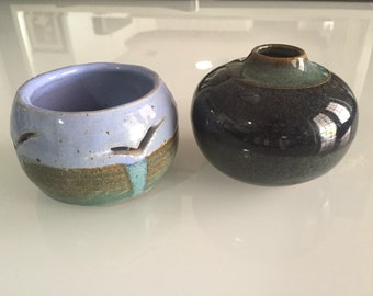 Pottery Bowls / Pottery Vase Earthenware By Gatormom13