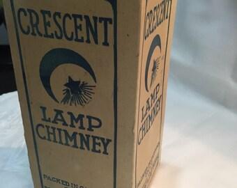 Crescent Lamp Chimney Box/Macbeth-Evans Glass Company/Paper Box Lamp Chimney/Paper Box Lamp Chimney/ Paper Ephemera/ By Gatormom13