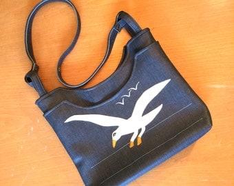 Seagull Denim-Toned 70s Handbag