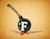 F-Bomb Steel Sculpture for desk top, table, or shelf