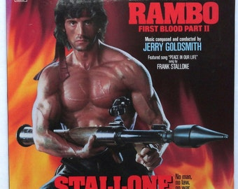 "Sealed ""Rambo: First Blood Part 2"" Vinyl Soundtrack Sylvester Stallone"