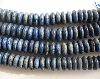 Center Drilled Natural Sodalite Rondelle/Coin/Disc Beads - 16 Inch Strand