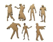 Zombie Villagers - Walking Dead undead shaped chipboard embellishments for scrapbooking, card making, altered art, mixed media