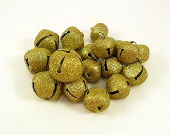 Jingle Bells Gold Glitter 18 Bells