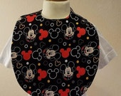 Waterproof Side snap Mickey mouse themed Baby Bib...buy 2 and save!