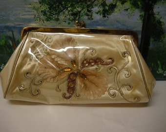 Vintage Clutch with Butterfly
