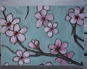 Get Well card, On the Mend, Feel Better card-Cherry Blossoms
