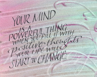 Your mind is a powerful thing...Original art (#98) from 365 project (year 4)