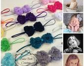 You Pick 2 - Mini Chiffon Rose Bow Headband Set, Newborn Headbands, Infant Headbands, Children's Headbands, Baby Headbands, Women's Headband