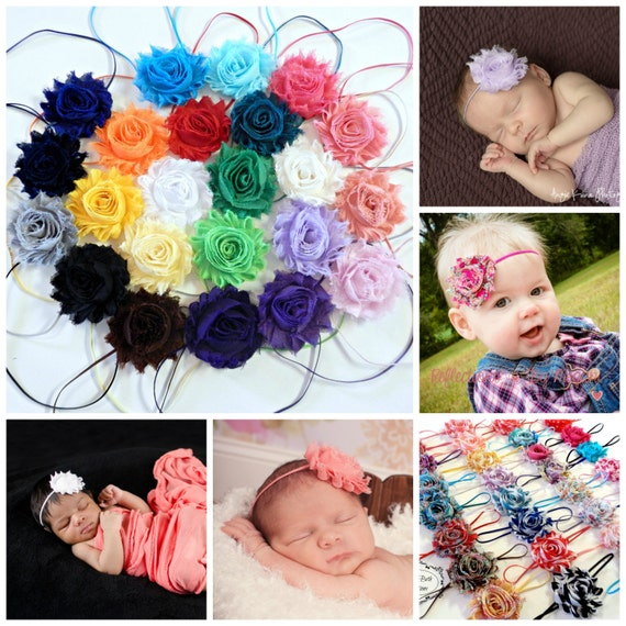 You Pick 2, Shabby Chic Rose Headband Set, Infant Headband, Newborn Headband, Children's Headband, Baby Girl Headband, Flower Headband