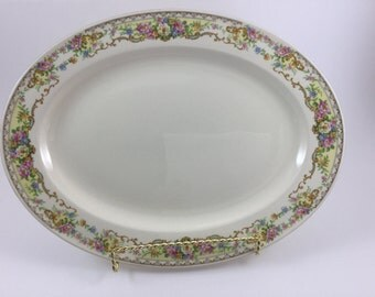 Vintage Edwin M Knowles Serving Platter Made in USA