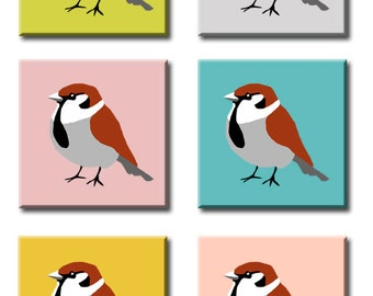 Sparrow painting choose the background colour yourself!