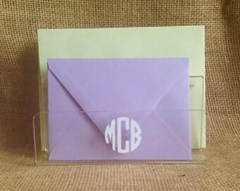 Monogram Letter Holder - Personalized Acrylic Letter Organizer