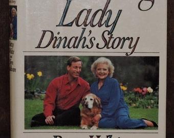 Vintage Book Autographed by Betty WhiteThe Leading Lady Dinah's Story - Co-author Tom Sullivans Autograph - FINE Condition -Golden Retriever