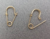 Tiny Gold Filled Safety Pin Earrings, One Pair OR One Single, Mini Safety Pin Earrings, Smaller Earrings, Earrings for Him, Earrings for Her
