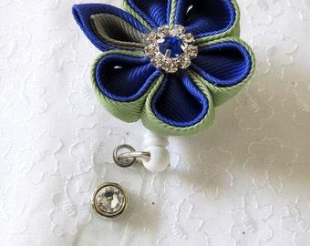 ID Badge Holder Kanzashi Flower Retractable Badge Holder