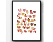 Watercolor art painting - Flower painting - Watercolor floral print - abstract painting pink petals - floral print, gift for her