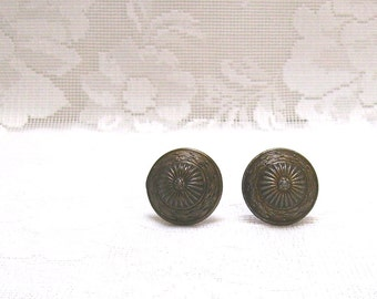 Daisy Cabinet Knobs - Door Knobs - Set of Two - Made in Japan - Furniture Hardware - Restoration Hardware - Furniture Knob - Hardware