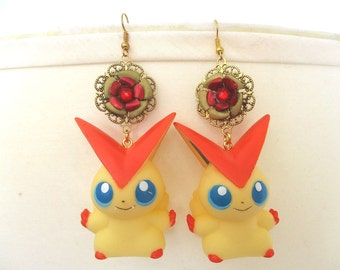 Pokémon earrings - VICTINIToy Earrings - Geekery, Cosplay, Gijinka