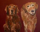Custom Pet Portrait - Golden Retriever Example