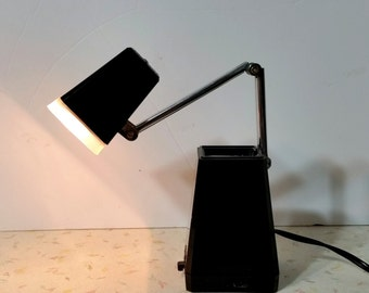 Vintage Black Mid Century Modern Desk Lamp Pyramid Modern Desk Lamp 3 Brightness Settings