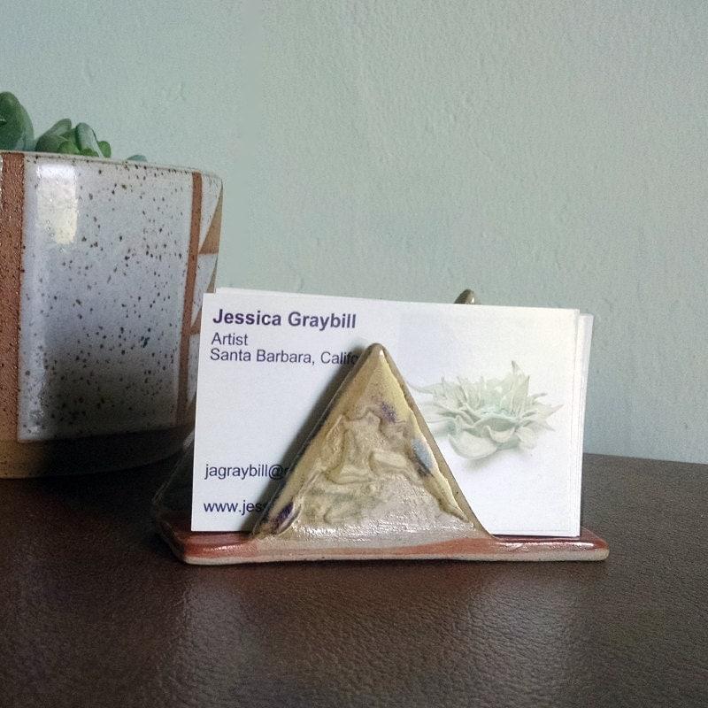 Mountain Range Business Card Holder, Ceramic Business Card Holder ...