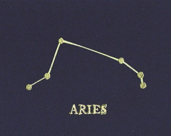 Aries Birthday Card, Astrology, Horoscope, Constellation, Aries Card, Star Sign, Birthday, Aries, Birthday Card