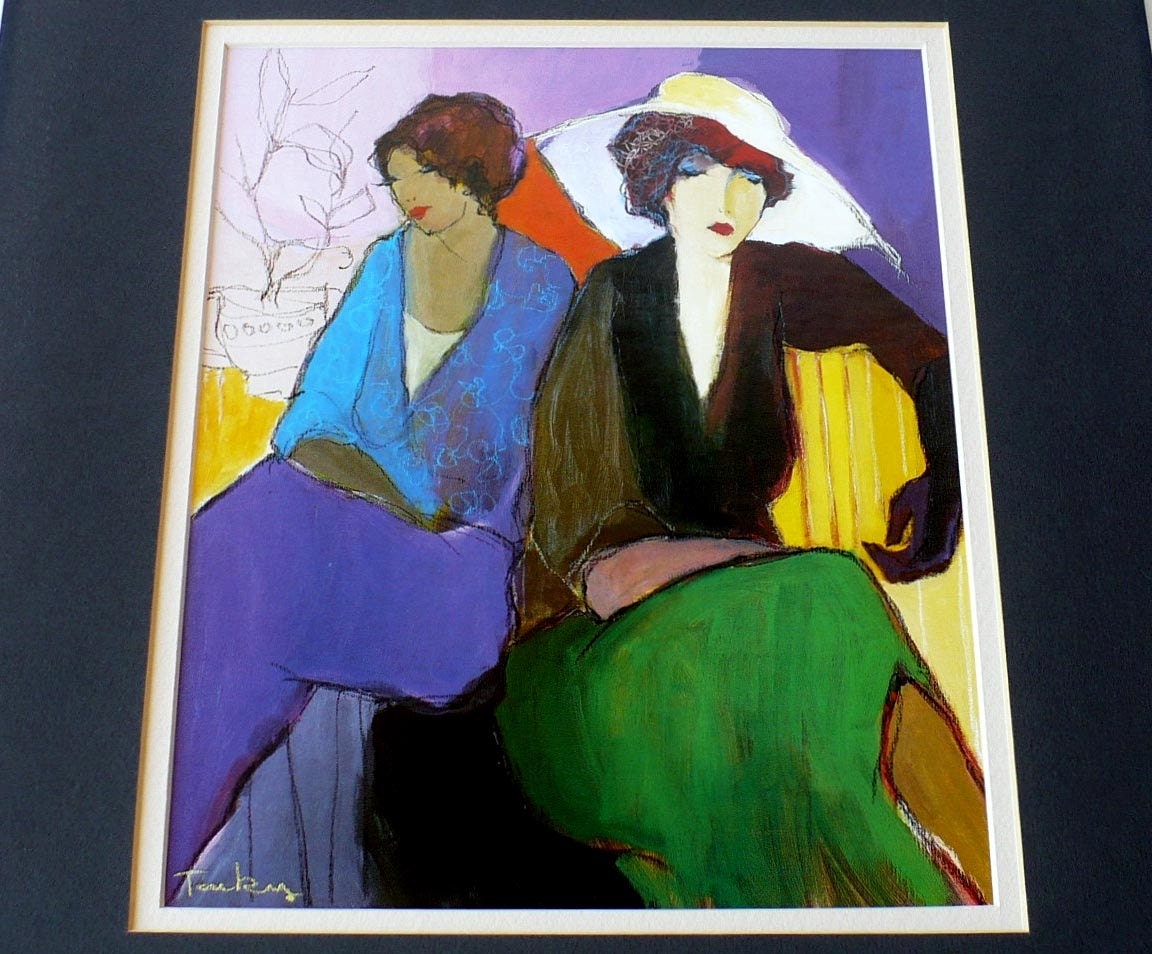 Tarkay Art: Itzchak Tarkay Art Prints Lithographs Plate Signed Framed