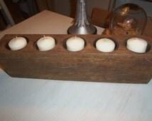 Hand Made 5 Hole Sugar Mold, Mexico, Rustic, Centerpiece, Candles, Weddings, Organization