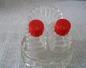 Glass Salt and Pepper Shakers - vintage, collectible
