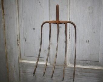 Vintage 5 Prong Pitchfork - Hay Fork Head - item #2116