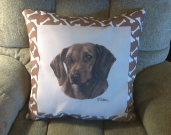 Dachshund Dog Cimaweave Pillow