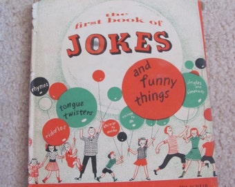 The First Book of Jokes // Hard Cover Childrens Book // Francis Chrystie // Circa 1951