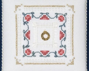 Four Sided Pulled Stitch & Four Sided Hemstitch - Level Four - Beyond Cross Stitch Series - A Victoria Sampler - Kit BCS #4-1