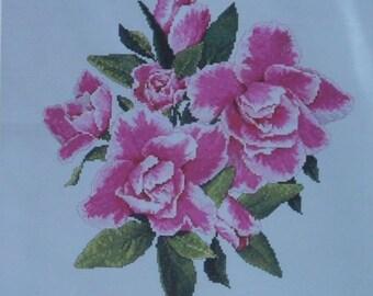 Alyssa's Azaleas by Marc Saastad – The Silver Lining #SL161 – Cross Stitch Chart