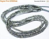 VALENTINE SALE 55% 10 Strands - 14 inches, 3mm, Natural Black Silverite Faceted Rondelle Beads Strand, SKU5980