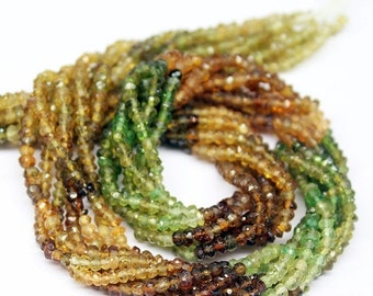 VALENTINE SALE 55% Petrol Tourmaline Faceted Rondelle Beads Strand,13 Inches, 3mm, SKU7491R