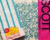 Vintage Scott Paper Placemats plus Hallmark Napkins Turquoise 1950s Kitchen