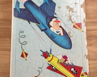 SALE Roger Ramjet Space Cartoon Frame Tray Puzzle