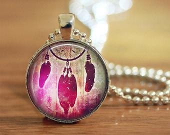 Dream Catcher Pendant, Dream Catcher Necklace, Dream Catcher Jewelry, Dream Catcher Key Ring, Dream Catcher Gift for Her, Custom Photos