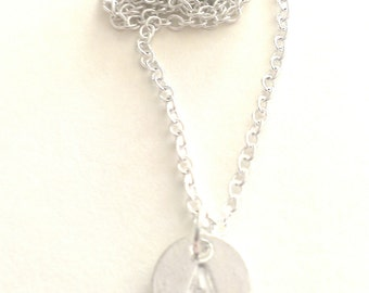 Personalised 'A' Initial Silver Plated Pendant