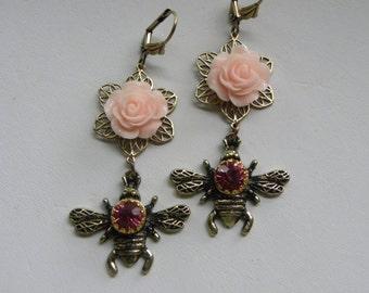 Honey Bee Earrings, Bumble Bee, Queen Bee, Bee Earrings