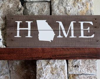 Georgia Home Sign, Georgia State Sign, GA Sign, Georgia Artwork, Rustic Georgia Sign, Wooden Georgia, Wood Georgia Sign, Georgia Wall Art