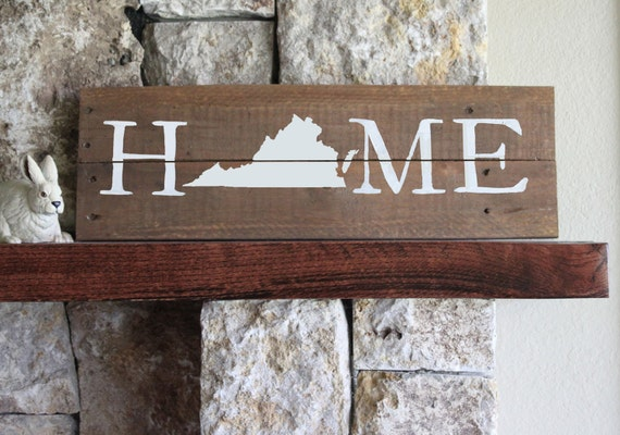 Like this item? - Virginia HOME Sign Reclaimed Wood Sign VA Home Sign