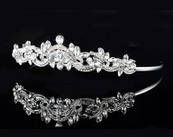 Bridal Headband Rhinestone Crystal Wedding Crown Tiara Headpiece Princess E24