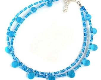 Something Blue Anklet - Bridal - Blue Anklet - Wedding Jewelry
