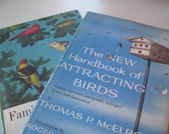 Attracting Birds, Familiar Garden Birds of America 2 hardcovers 1960s
