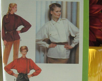 Simplicity Sewing Pattern 9148 Size 10 Misses Shirt Uncut Factory Folded