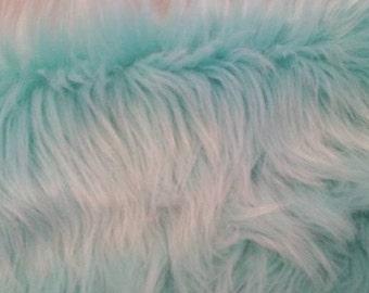 Bermuda Bay Aqua/Mint Faux Fur