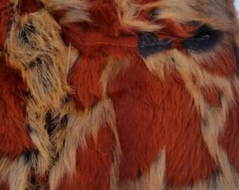 Camo Rust Faux Fur Craft Size